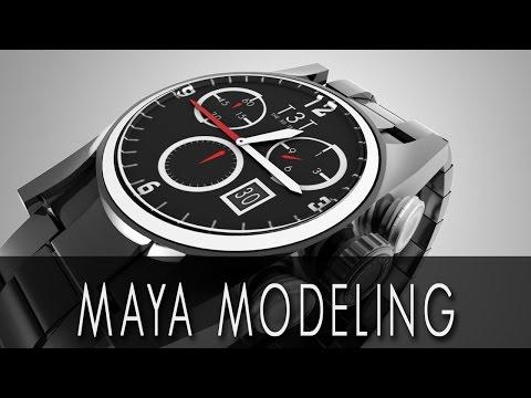 Simple Wrist Watch 3D Modeling | Maya Modeling | Keyshot Rendering | Download 3D Model