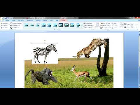 How to insert an image into another image using Microsoft word in 5 minutes - 2019