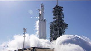 Первые огневые испытания ракеты Falcon Heavy