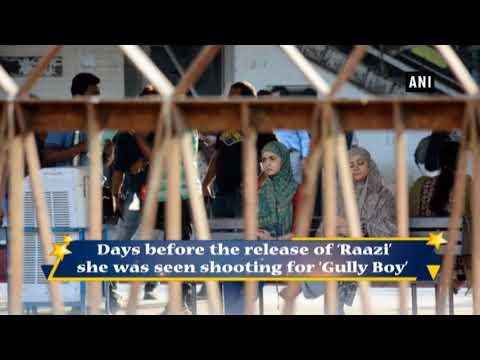 Alia Bhatt spotted shooting for 'Gully Boy' in Mumbai Railways