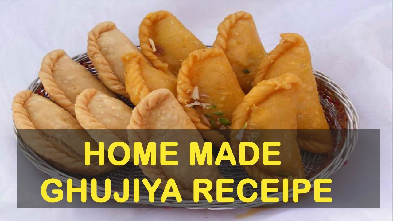 ghujiya recipe ग झ य बन न क व ध foodyee