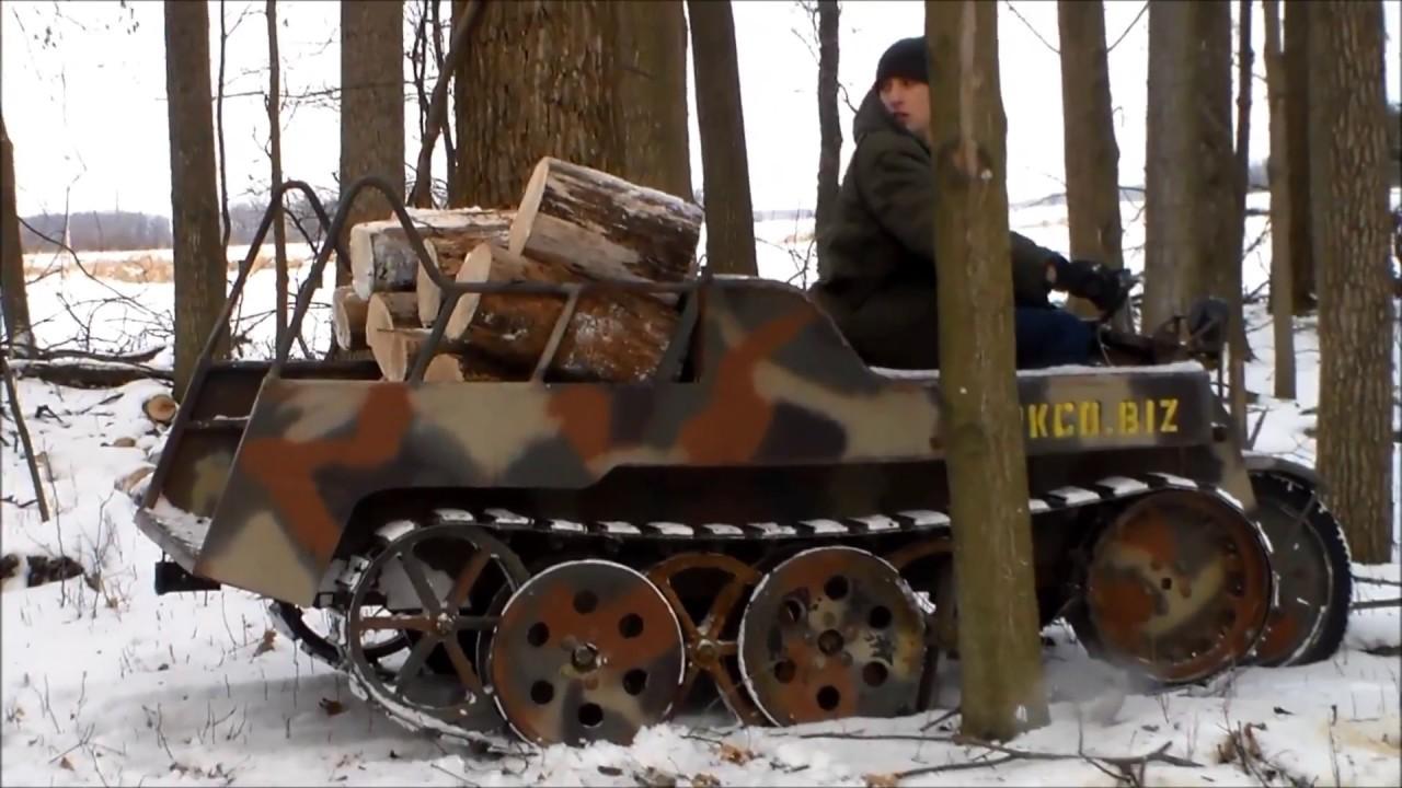 Tankco Replica Kettenkrad Getting Firewood