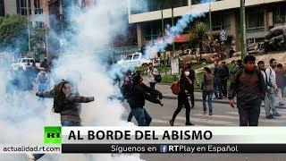 Bolivia: Lanzan gas e impiden la entrada al Senado a legisladores oficialistas
