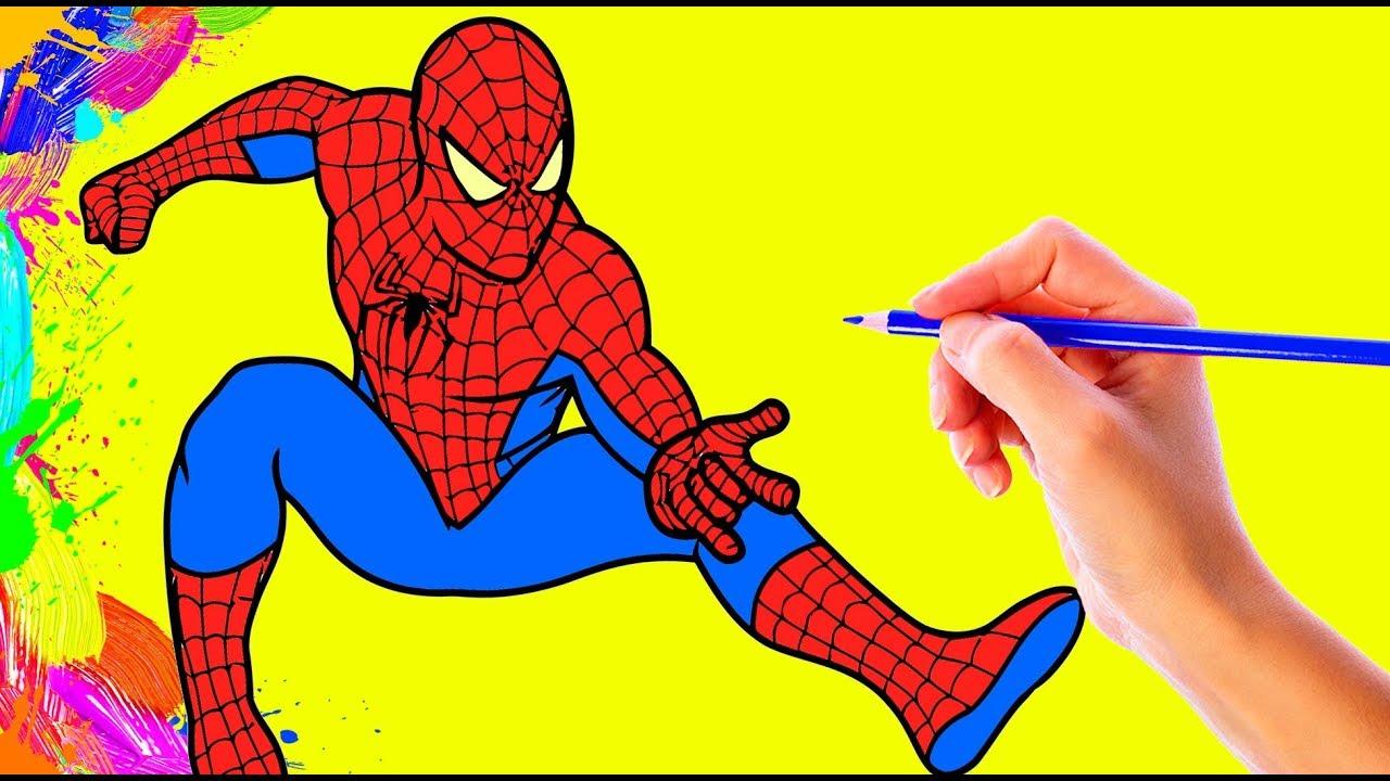 Desenhos Para Colorir Colorindo O Desenho Do Homem Aranha