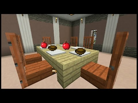 minecraft kitchen table and chairs