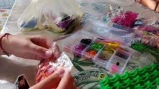Самый большой набор резинок!!! Разные цвета просто супер!/Rainbow Loomm\