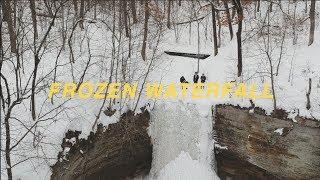 Frozen Waterfall HIDDEN In The Woods!