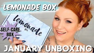 LEMONADE BOX JANUARY 2020 SELF CARE SUBSCRIPTION UNBOXING / MY 1ST BOX !
