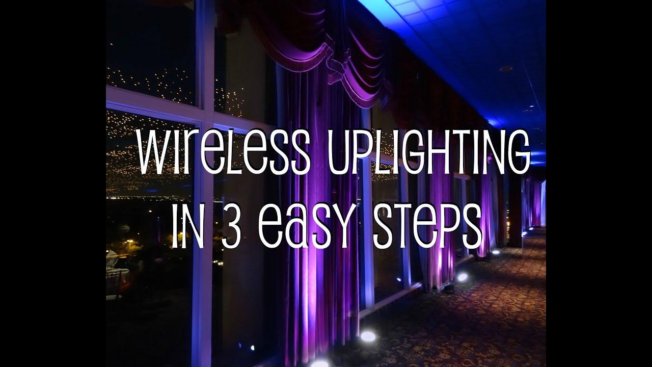 New York Wireless Uplighting With