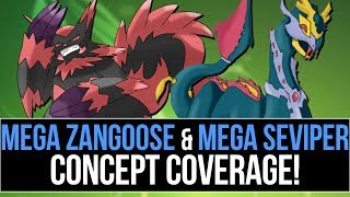 Mega Seviper & Mega Zangoose Concept Coverage (Pokémon Omega Ruby and Alpha Sapphire)