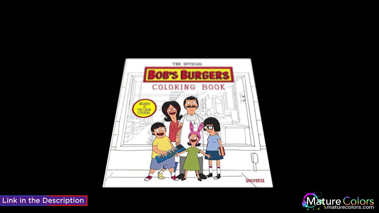 The Official Bob S Burgers Coloring Book Youtube