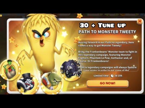 Looney tunes world of mayhem || legendary monster tweety rankup and Gameplay || 4k video.. |