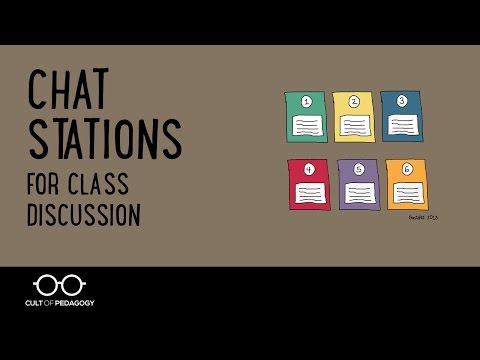 Chat Stations for Class Discussion