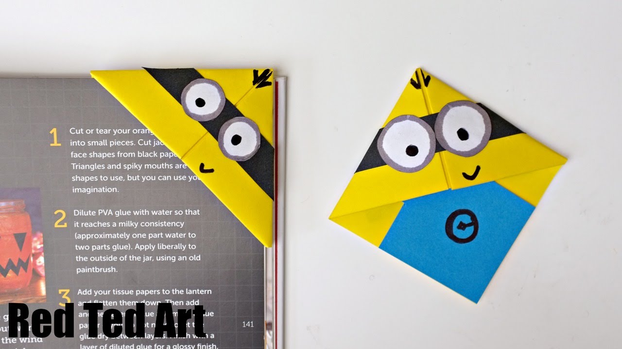 fun minion bookmark craft youtube - Bookmark Design Ideas