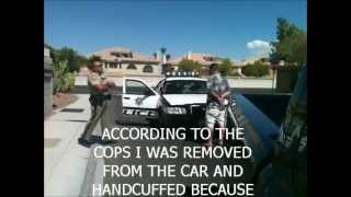 Arrested for having a concealed carry permit.