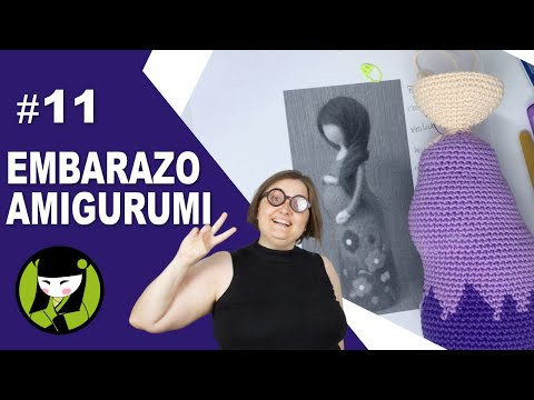 SEÑORA EMBARAZADA A CROCHET 11 cabeza amigurumi