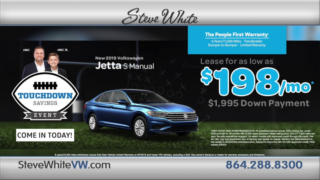Steve White Vw >> It S The 2019 Vw Jetta Touch Down Sales Event Steve White Vw Greenville Sc