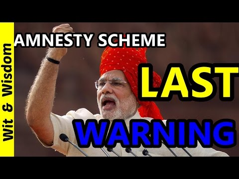 New tax evasion amnesty scheme  by Mr.arun jaitely Unaccounted deposits to attract heavy tax