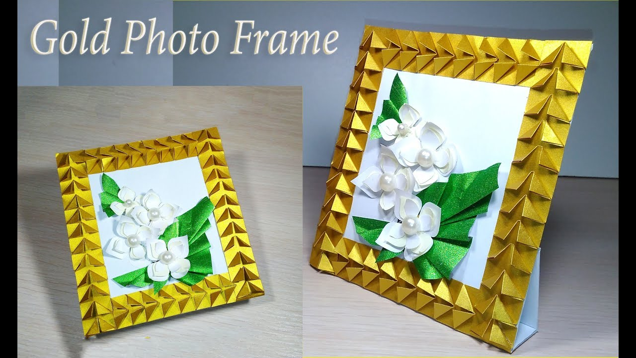 Diy Photo Frame With Paper Easy Standing Picture Frame Ideas For Christmas Gifts