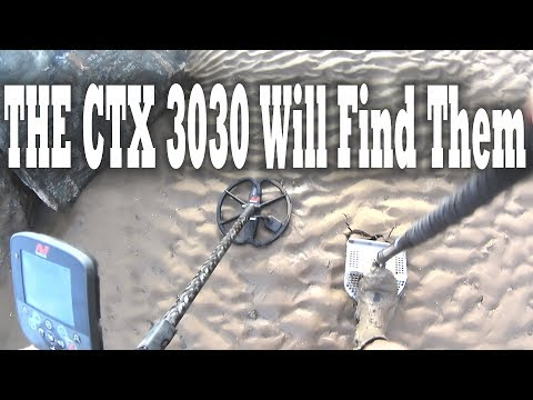 metal detecting beaches with the CTX3030 plenty of silver coins