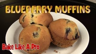 Super Easy Delicious Blueberry Muffins Recipe !