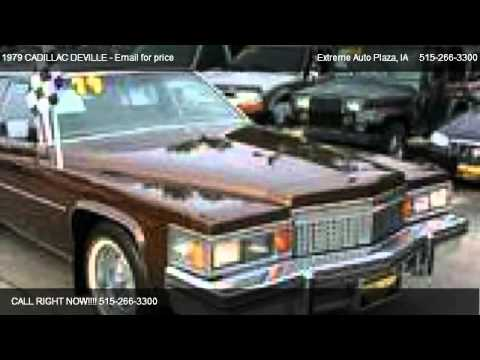 1979 CADILLAC DEVILLE - for sale in Des Moines, IA 50316 - YouTube