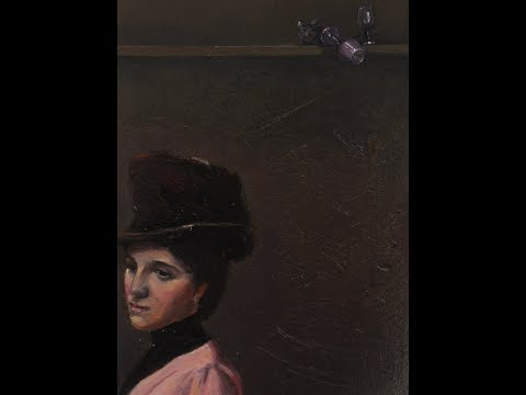 Tom Roberts' 'An Australian Native' (Ad Crossley).  1888, with glass falling