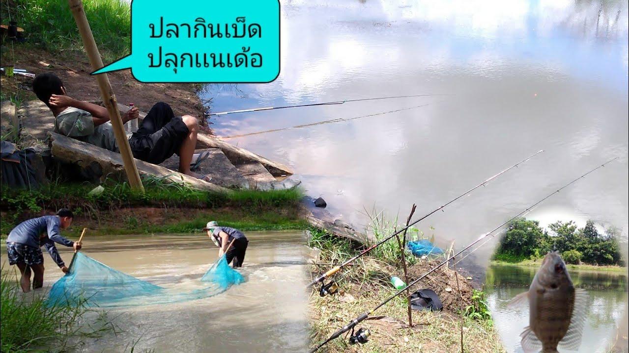 ตกปลาหน้าดิน&ชิงหลิว@ช่อนปลาซิวในสระยุนามาอุ๊ ชิวิตหาหยู่หากินเเบบอิสานบ้านทุ่ง#สายลมบ้านทุ่ง