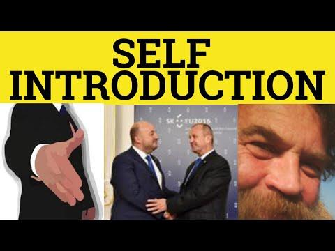 Self Introduction Speech Introducing Yourself ESL