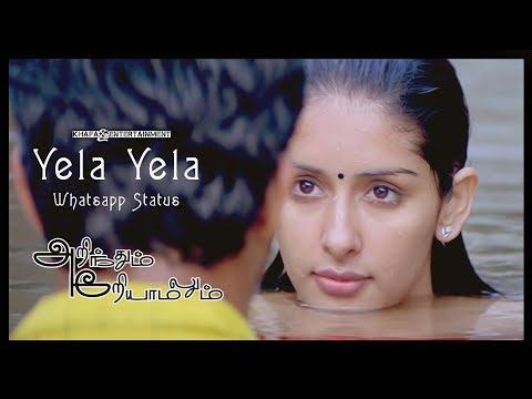 Yela Yela - Lyric Whatsapp Status | Arinthum Ariyamalum Tamil Movie | Yuvan Shankar Raja | 1