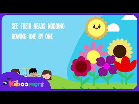 5 Little Flowers Song for Kids With Lyrics | Flower Songs for Children |  The Kiboomers