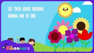 5 Little Flowers Song for Kids With Lyrics | Flower Songs for Children | The Kiboomers