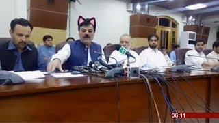 Press conference cat filter left on (fun story) (Pakistan) - BBC News - 18th June 2019