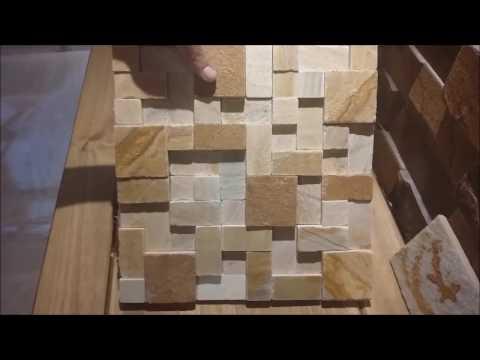 Mosaico pedra s o tom natural revestimentos pisos for Mosaico adesivo 3d