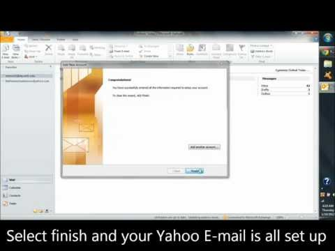 Add Yahoo mail account to Outlook 2010-2013 without upgraded yahoo mail