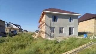 МПС Алматы. Планировка дома в 2 этажа из красного кирпича, обзор. 30.05.16.
