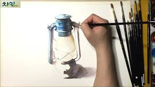Watercolor painting of Blue La…