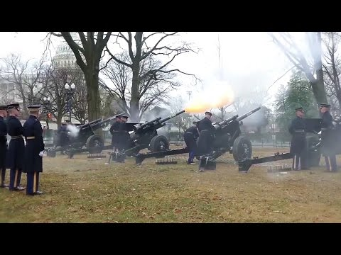 21 Gun Battery Salute To President Trump