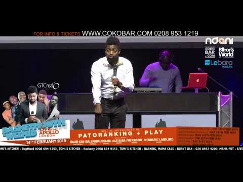 BASKETMOUTH 'MY VIRGIN WIFE' - BASKETMOUTH LIVE AT THE APOLLO - 14TH FEB 2015 - HMV
