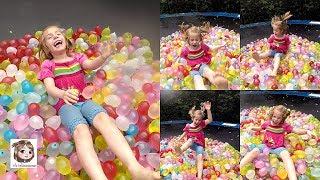 1000 WASSERBOMBEN AUF DEM TRAMPOLIN 🎈 Fang den Minion 💦 Bunch O Balloons Challenge