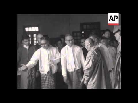 CAN936 U THANT AT BUDDHIST CEREMONY