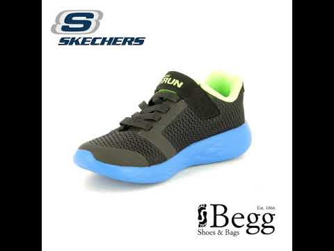 Skechers Go Run 600 97860 BBLM Black blue trainers