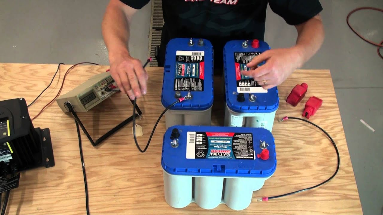 installing 24v and 36v battery system for trolling motor youtube rh youtube com 36 volt battery charger wiring diagram 36 volt golf cart battery wiring diagram
