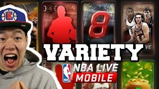 Most expensive variety pack opening ever - 50million coins worth of packs - nba live mobile