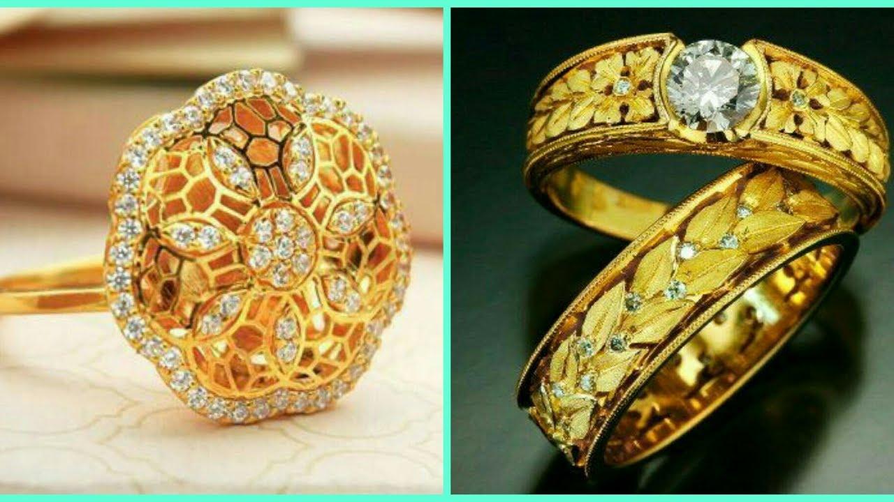 Stylish gold ring design - YouTube
