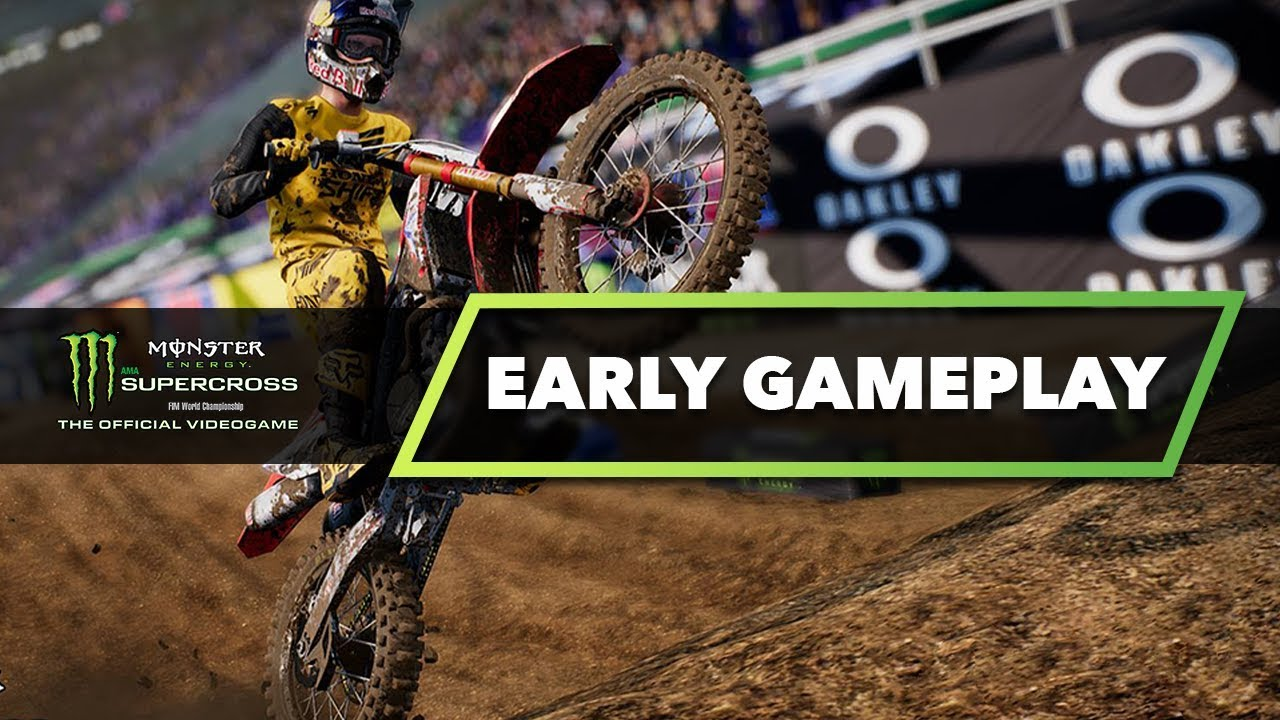 monster energy supercross the game early gameplay are. Black Bedroom Furniture Sets. Home Design Ideas