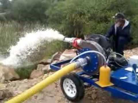 Alluvial dredge pump test run