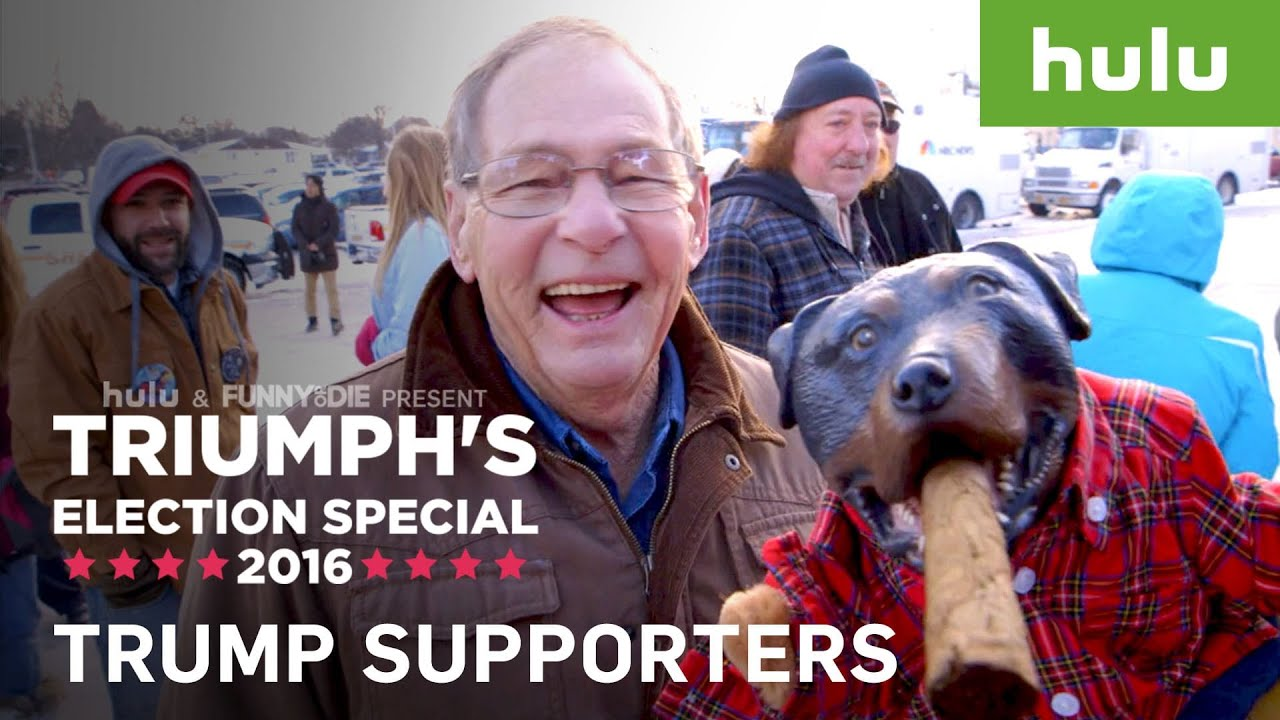 donald trump supporters interviewedtriumph the insult comic