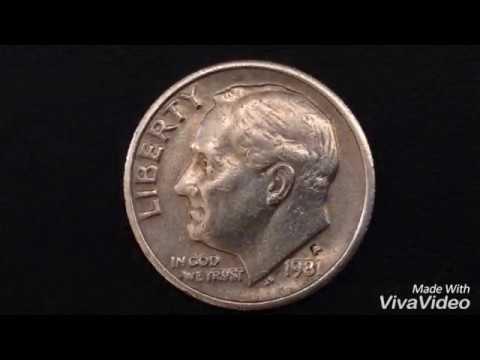 Roosevelt Dime 1981 P ERROR Coin Rare USA Coin Монеты США Рузвельт Дайм  1981 Centavo Coins Qepik