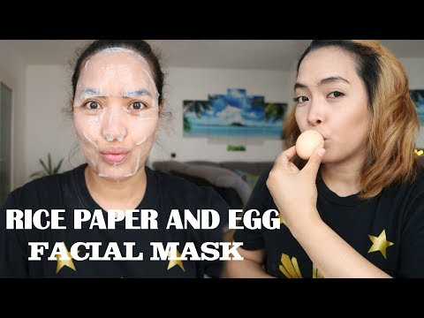 Skin Whitening Facial Mask Egg White And Rice Paper Emmas Veelog